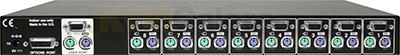 1U, 8-port KVM switch with VGA-PS/2 connectors