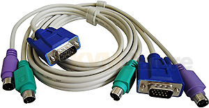 Bonded KVM cable