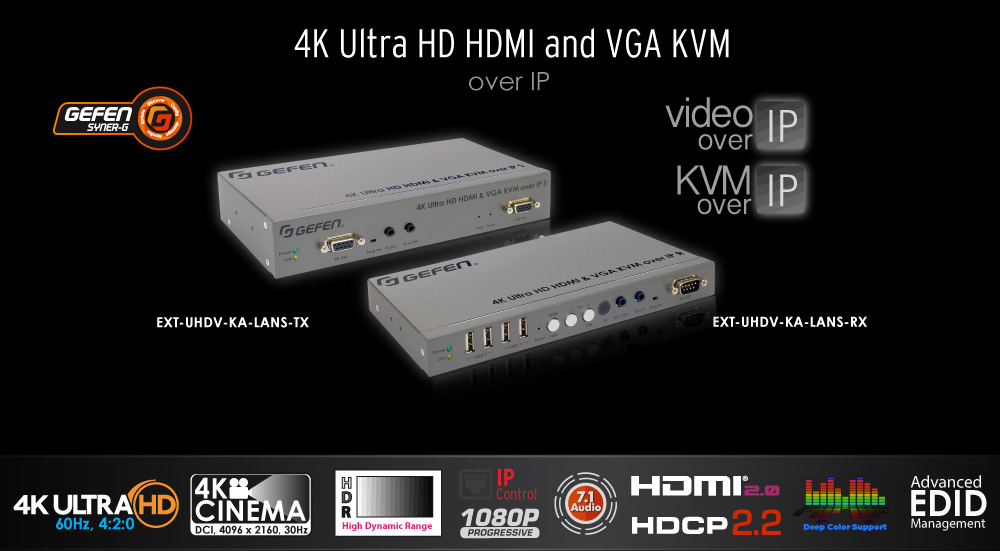 4K Ultra-HD HDMI & VGA KVM over IP