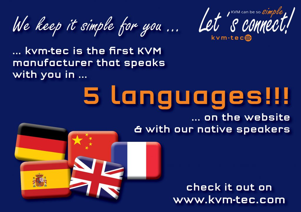 kvm-tex website in 5 languages