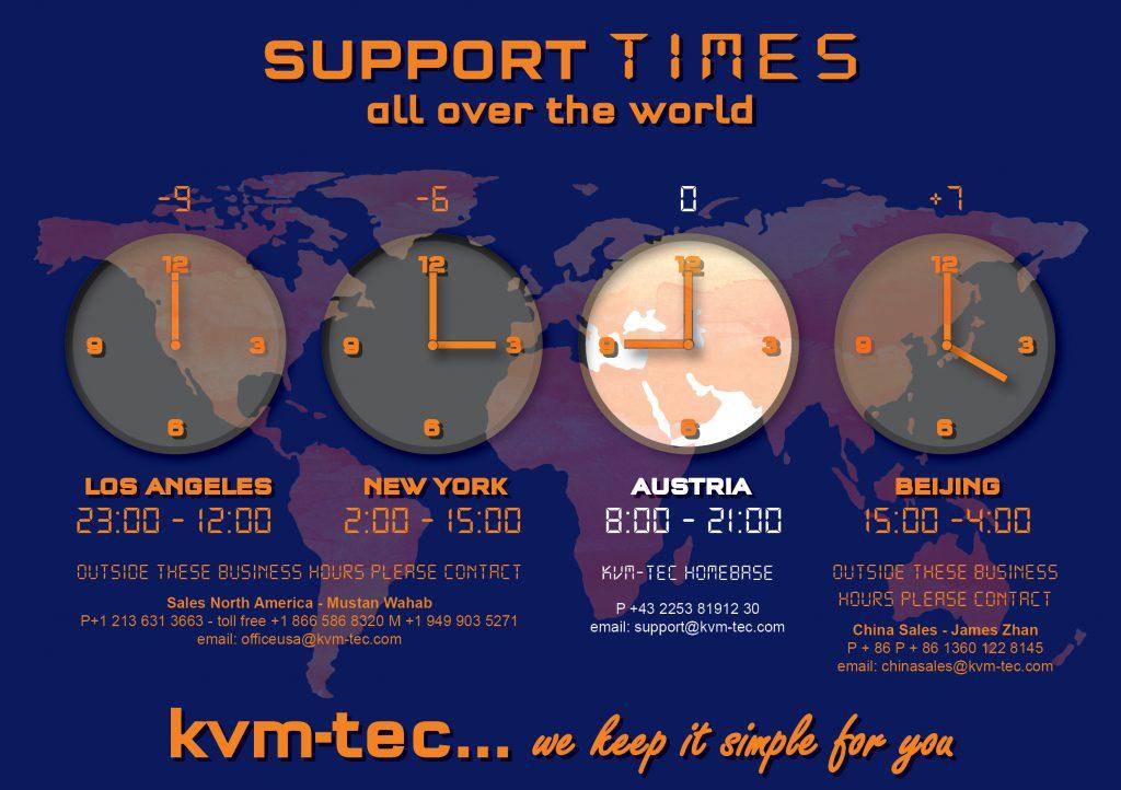 kvm-tec support times