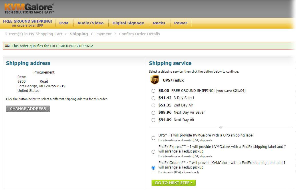 KVMGalore Shipping Options